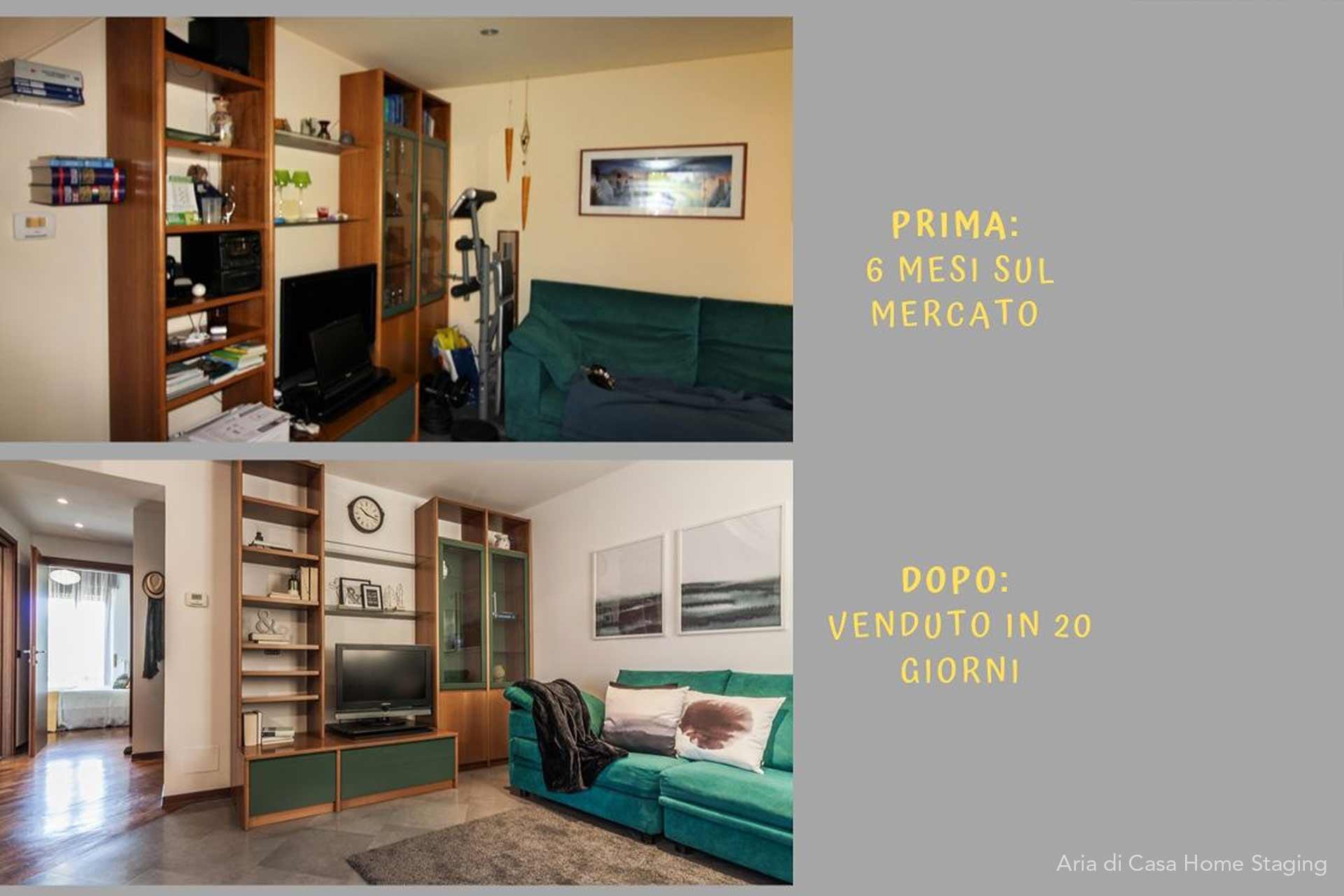 Aria di Casa Home Staging: case history di un home staging di successo.